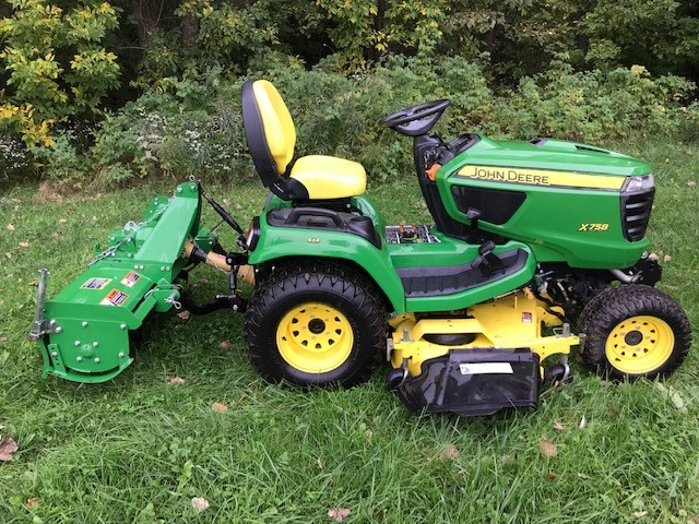 2014 X758 Diesel Lawn Tractor 4WD / Deck and RotoTiller